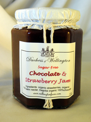 chocolate strawberry jam